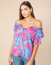 Load image into Gallery viewer, Hale Bob Off Shoulder Floral Blouse S/S