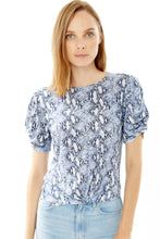 Load image into Gallery viewer, 1. Generation Love - Paulina Twist Snake Short Sleeve Top