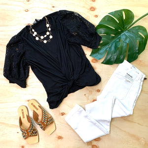 Gen Love Vanessa Lace Knit Top