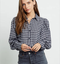 Load image into Gallery viewer, Rails Angelica Puff Sleeve Plaid Shirt