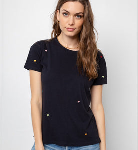 Rails Davie Tee w/ Embroid Hearts