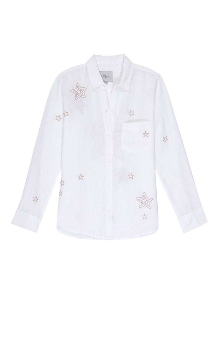 Rails Charli Long Sleeve Line Shirt w/ Stars