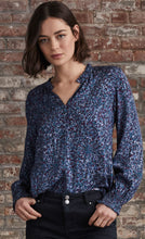 Load image into Gallery viewer, Ecru Portman Smocked L/S Blouse