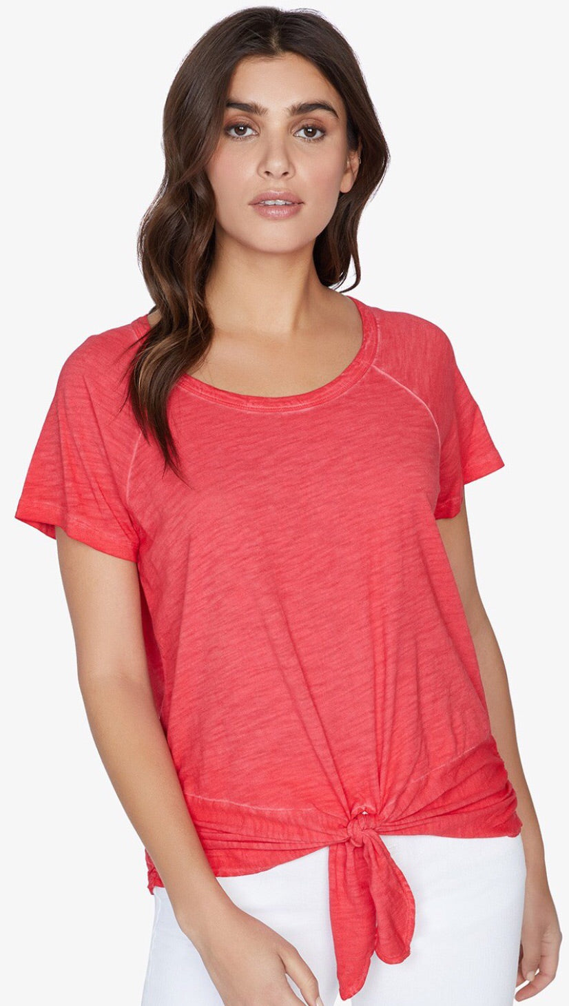 Sanctuary Lou Ruched S/S Tie Tee