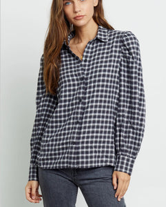 Rails Angelica Puff Sleeve Plaid Shirt