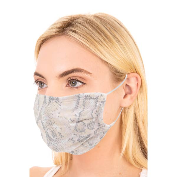 Canvas Snake skin printed Face Mask