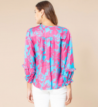 Load image into Gallery viewer, Hale Bob Nia Paradise print long poet sleeved blouse