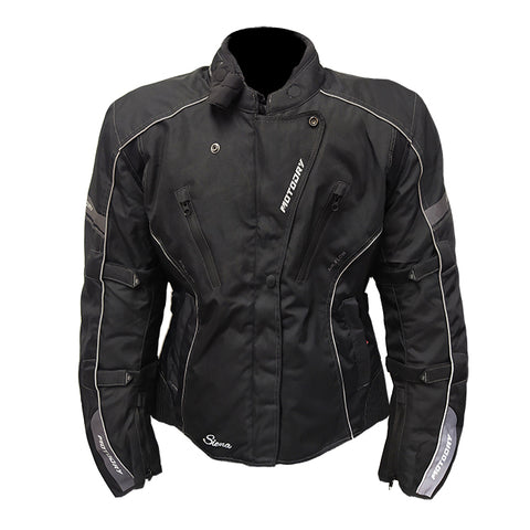 Sienna Ladies Jacket Blk/Wht MotoDry