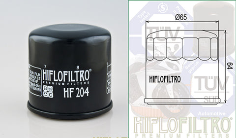 HF204 - (Oil Filter)  Available in chrome finish