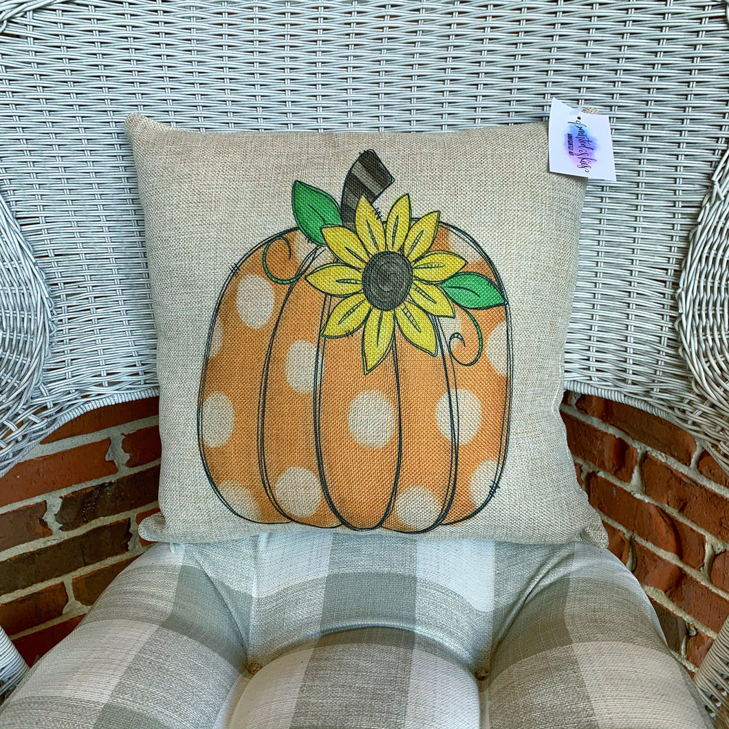 Sunflower Pumpkin Pillow Cover