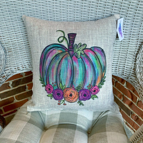 Painted Pumpkin Pillow COVER ONLY