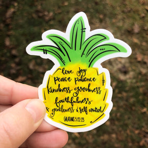 Pineapple Fruit Of The Spirit Sticker