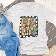 Happy Go Lucky Glitter Tee