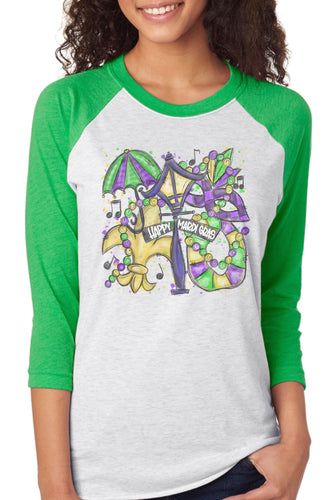 Happy Mardi Gras Raglan