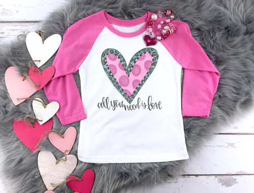 Youth All You Need Is Love Valentine Raglan