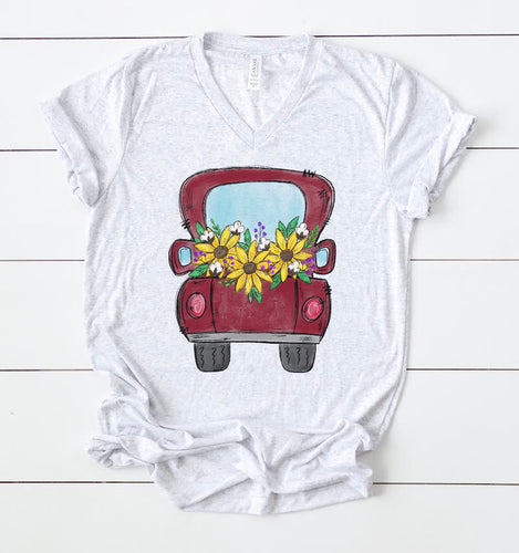 Sunflower Truck Tee