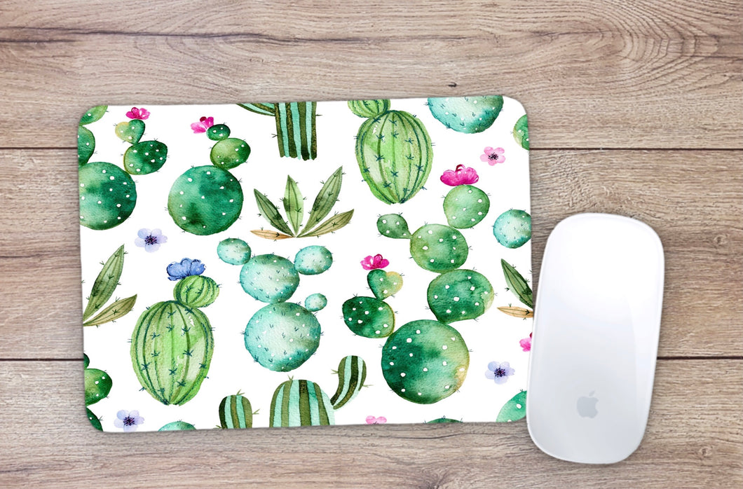 Watercolor Cactus Mouse Pad