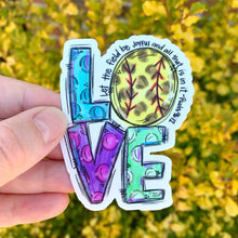 Love Softball Sticker