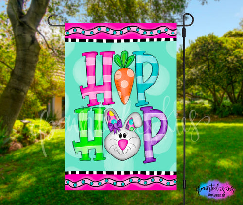 Hip Hop Easter Garden Flag