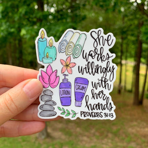 Spa/Masseuse Sticker