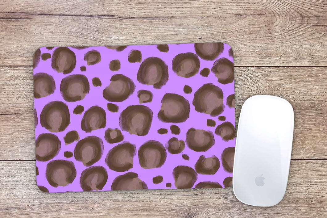 Purple Leopard Mouse Pad
