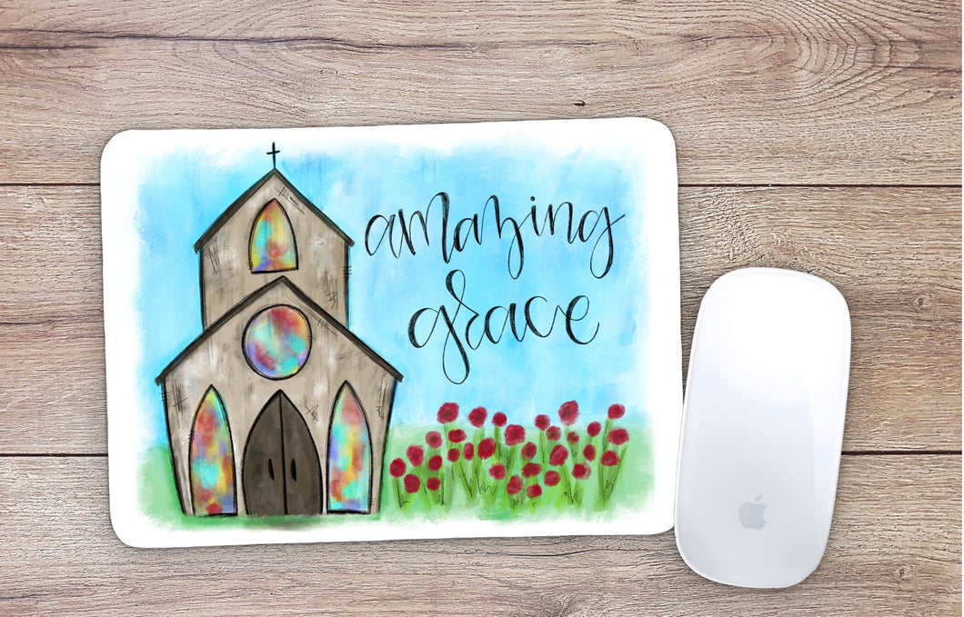 Amazing Grace Church Mouse Pad