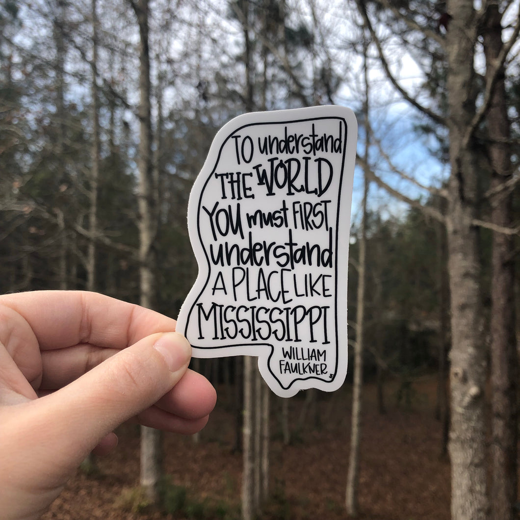 William Faulkner Mississippi Sticker