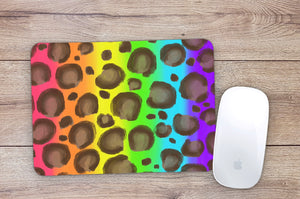 Rainbow Leopard Mouse Pad