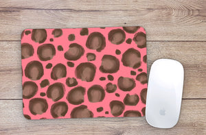 Coral Leopard Mouse Pad