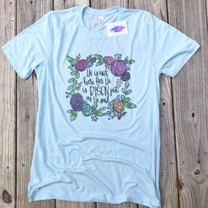 He Is Risen Floral Wreath Tee