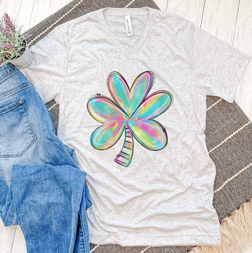 Colorful Shamrock Tee