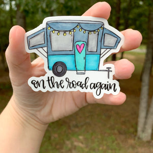 On The Road Again Camper Sticker