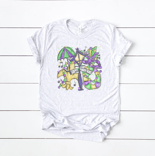 Youth Happy Mardi Gras Tee