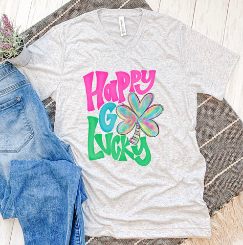 Happy Go Lucky Colorful Tee