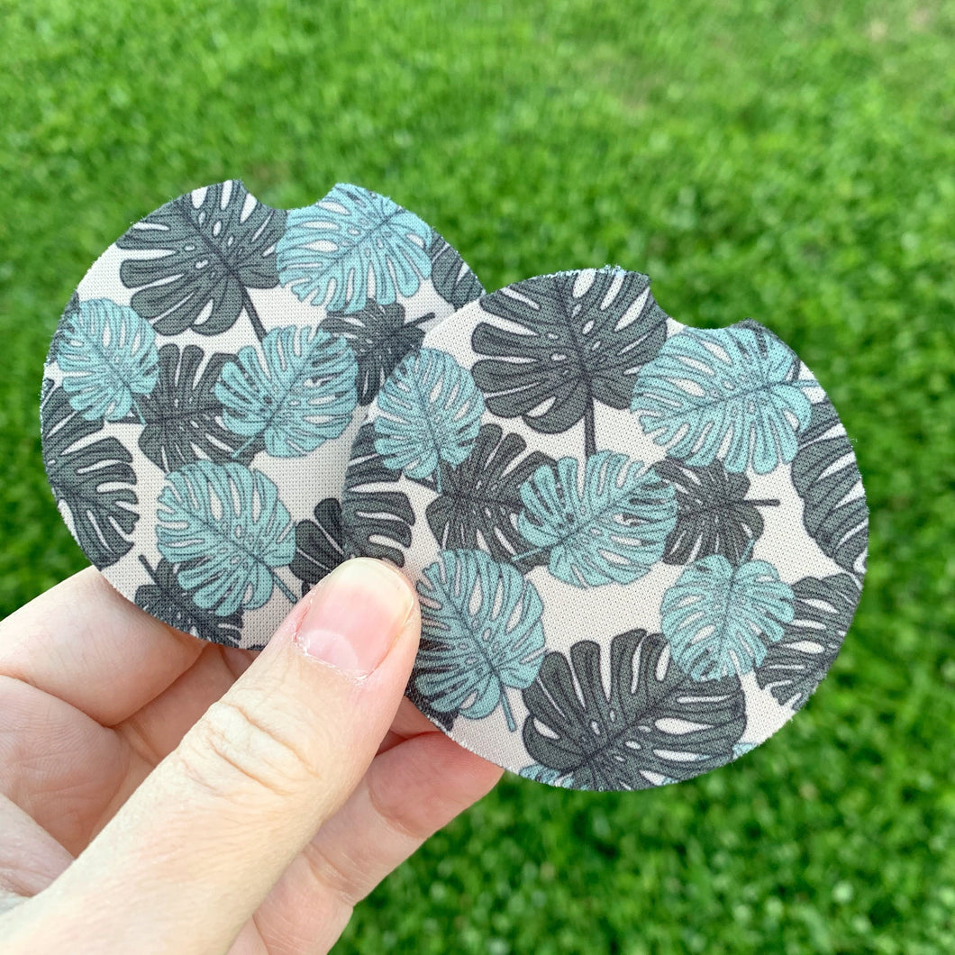 Monstera Leaf Car Coasters