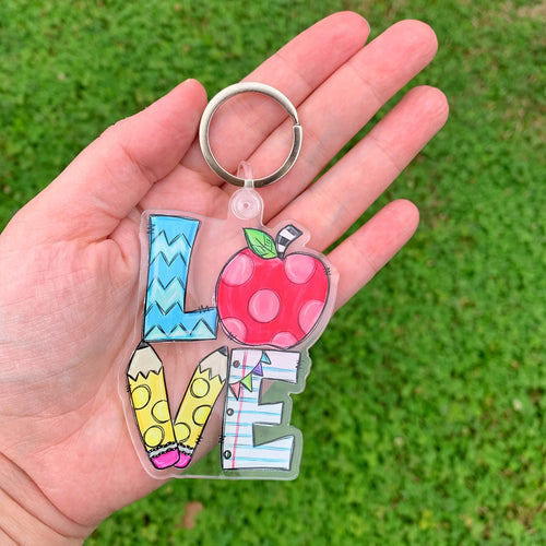 Love Teacher Keychain