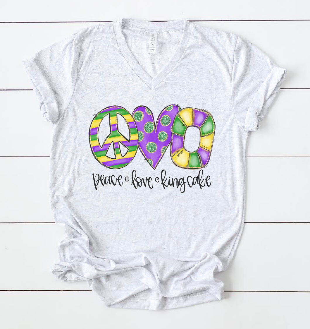 Peace Love King Cake Tee