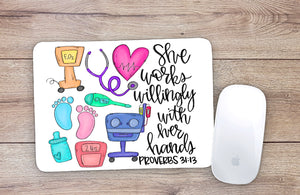 NICU Nurse Mouse Pad