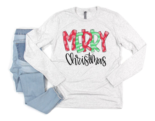 Pick Your Print - Long Sleeve Christmas Tee