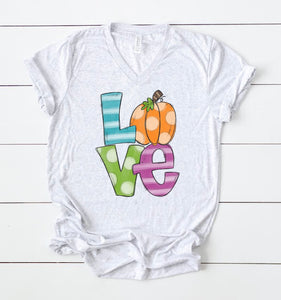 Love Fall Pumpkin Tee