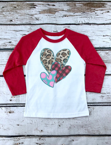 Youth Hearts Valentine Raglan