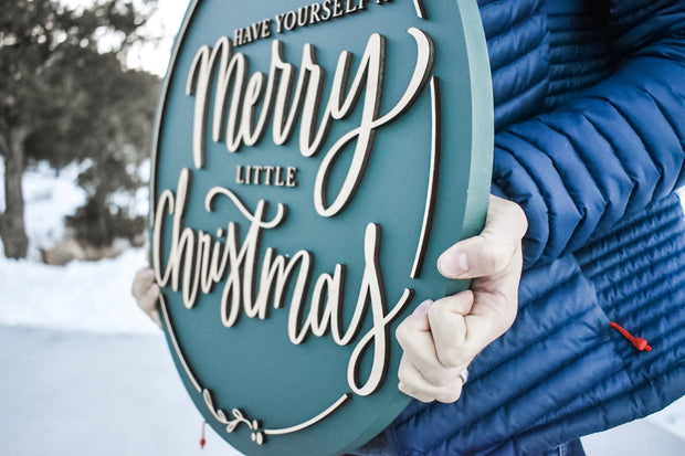 Circular Merry Christmas Sign
