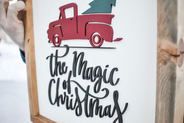 Magic of Christmas Sign