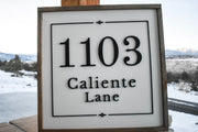 Customizable Address Sign