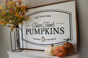 Large Pumpkin Patch Sign