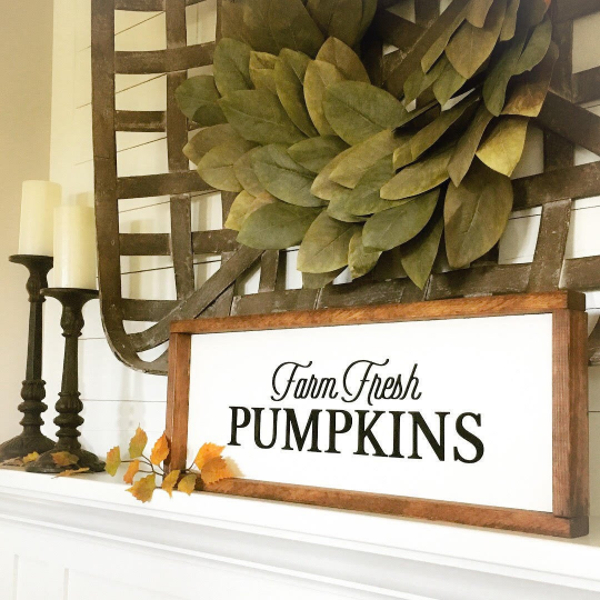 Farm Fresh Pumpkins Sign