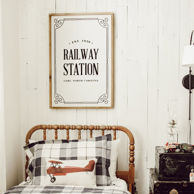 Vintage Railway Station Sign