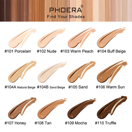 PHOERA Velvety Matte Cover Liquid Foundation