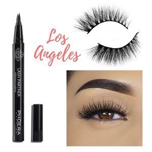 Open image in slideshow, PHOERA 9D Synthetic Mink Lashes & Adhesive Eyeliner Kit