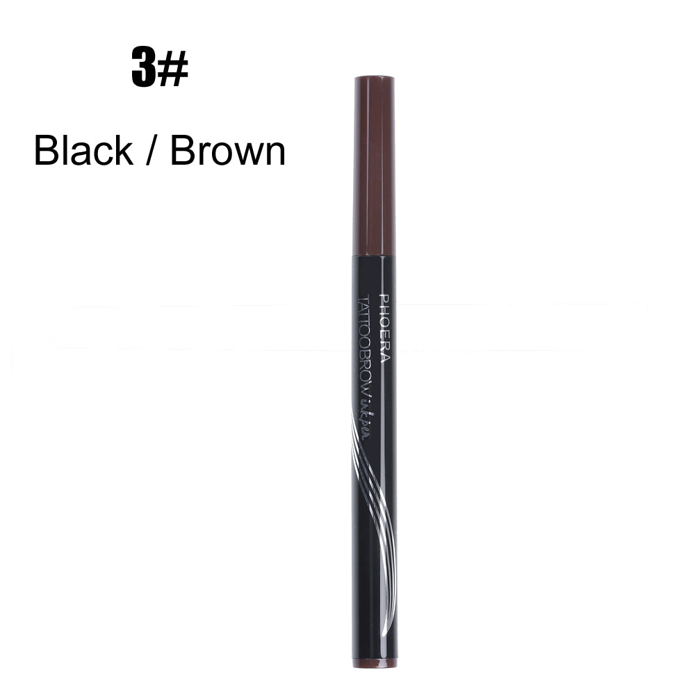 PHOERA 4 Tips Tattoo Brow Liquid Eyebrow Pen
